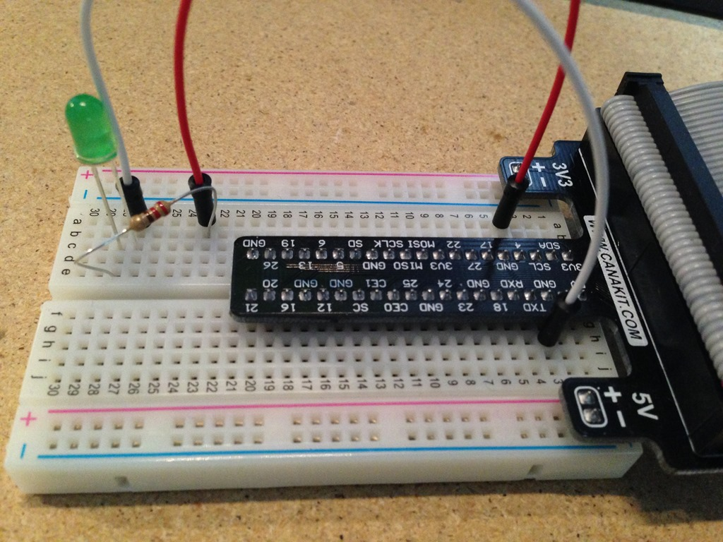 Blinking An Led With Raspberry Pi 2 And C Mono Rj Dudley Flashing Circuit Board 20150316 201106643 Ios